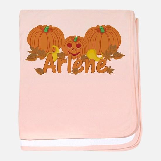 Halloween Pumpkin Arlene baby blanket