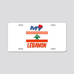 My Love Lebanon Aluminum License Plate