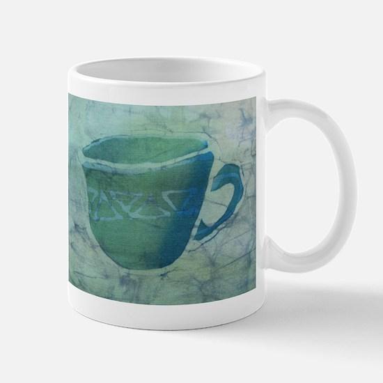 Green Batik Coffee Cup Mug