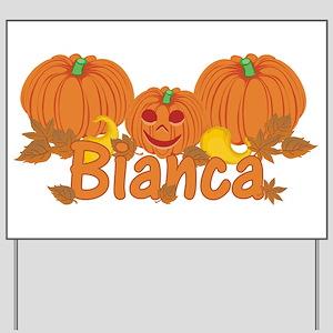 Halloween Pumpkin Bianca Yard Sign