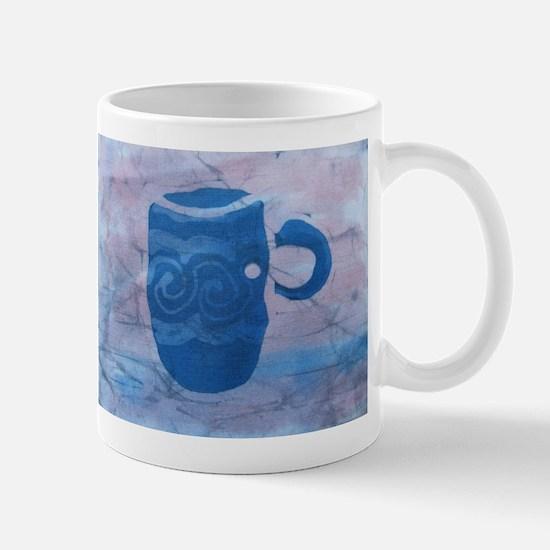 Batik Blue Coffee Cup Mug