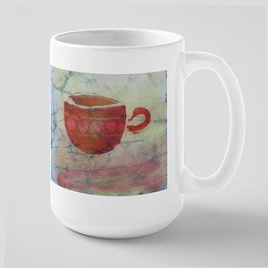 Batik Red Coffee Cup Large Mug