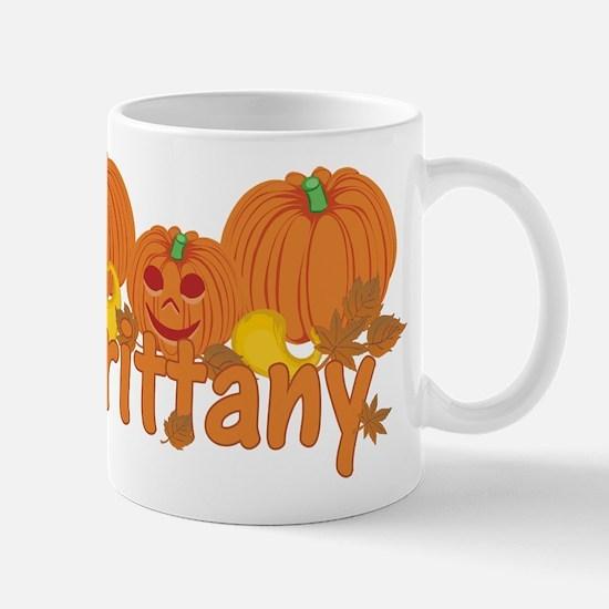 Halloween Pumpkin Brittany Mug