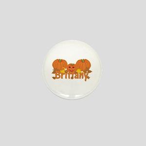 Halloween Pumpkin Brittany Mini Button