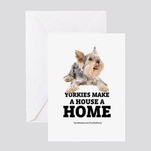 Home with Yorkies Greeting Card