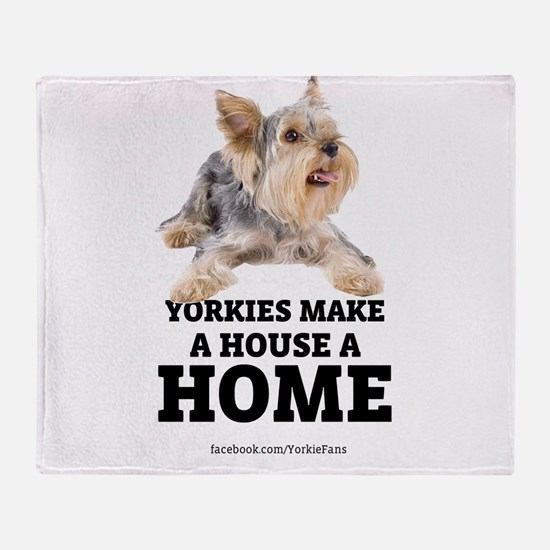 Home with Yorkies Throw Blanket