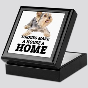 Home with Yorkies Keepsake Box