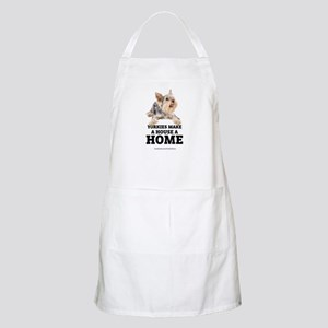 Home with Yorkies Apron