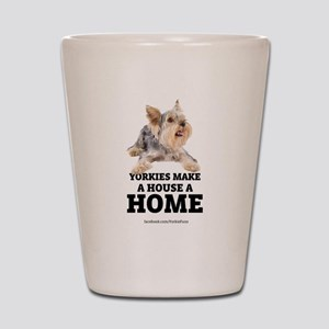 Home with Yorkies Shot Glass