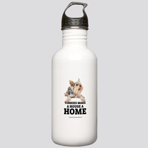Home with Yorkies Stainless Water Bottle 1.0L