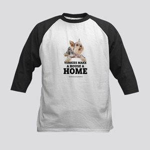 Home with Yorkies Kids Baseball Jersey