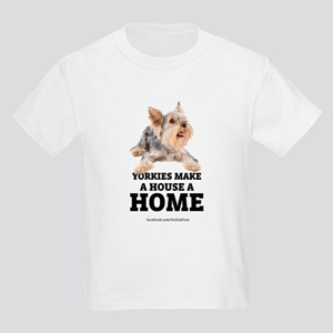 Home with Yorkies Kids Light T-Shirt