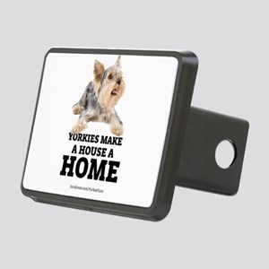 Home with Yorkies Rectangular Hitch Cover