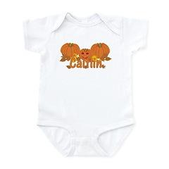 Halloween Pumpkin Caitlin Infant Bodysuit