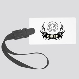 Fire Chief Tattoo Large Luggage Tag