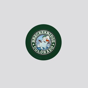 Breckenridge Snowman Circle Mini Button