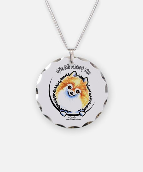 Pomeranian IAAM Necklace Circle Charm