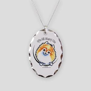 Pomeranian IAAM Necklace Oval Charm