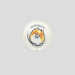 Pomeranian IAAM Mini Button