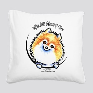 Pomeranian IAAM Square Canvas Pillow
