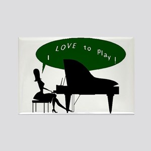 I Love To Play! #1A & #1B - Rectangle Magnet (10