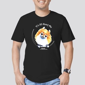 Pomeranian IAAM Men's Fitted T-Shirt (dark)