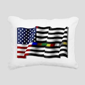 Thin Line Combo Flag Rectangular Canvas Pillow