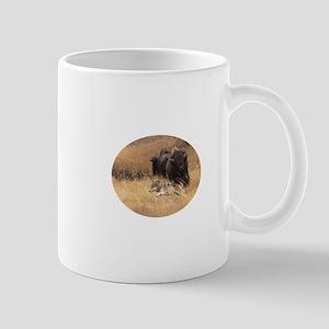 wolf and bison Mug