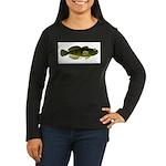 Banded Sculpin Women's Long Sleeve Dark T-Shirt