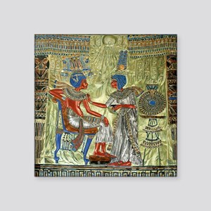 "Tutankhamons Throne Square Sticker 3"" x 3"""
