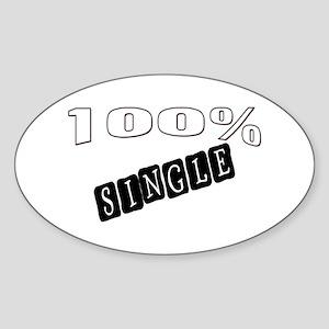 100% Single Oval Sticker