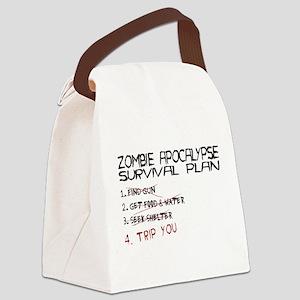 ZombieApSurvivalBLK Canvas Lunch Bag