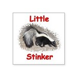 Little Stinker (Baby Skunk) Square Sticker 3