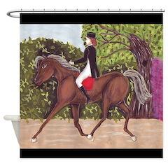 Dressage Horse Riding Shower Curtain Shower Curtai