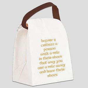 walk a mile Canvas Lunch Bag