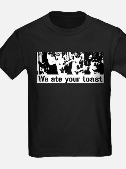 We (the corgis) ate your toast T