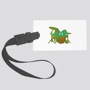 Funky Drumset Large Luggage Tag