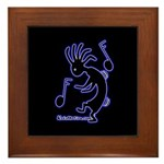 Kokopelli Dancer Framed Tile