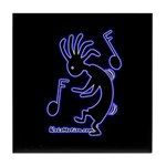 Kokopelli Dancer Tile Coaster