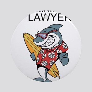 Swim With The Lawyers Ornament (Round)