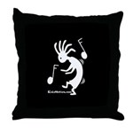 Kokopelli Dancer Throw Pillow