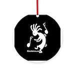 Kokopelli Dancer Ornament (Round)