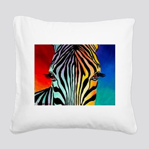 Zebra Square Canvas Pillow