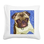 Precious Pug Square Canvas Pillow