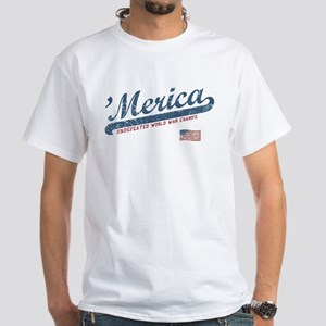 Vintage Team 'Merica White T-Shirt