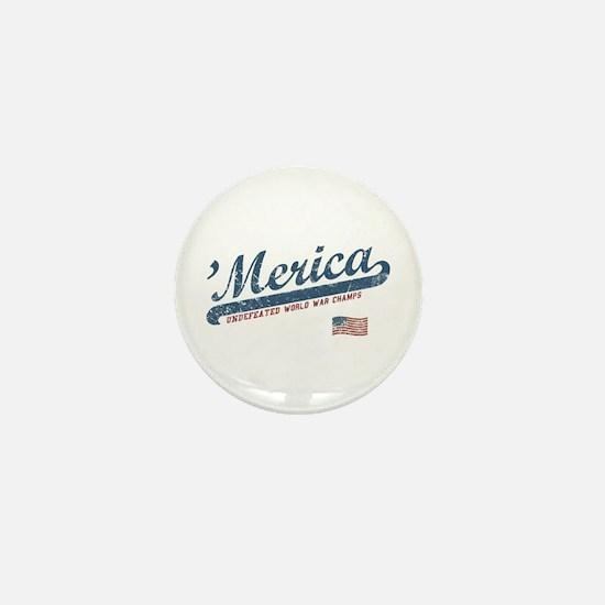 Vintage Team 'Merica Mini Button