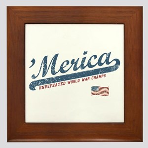 Vintage Team 'Merica Framed Tile