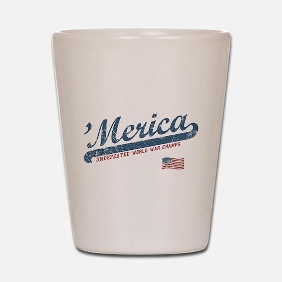 Vintage Team 'Merica Shot Glass
