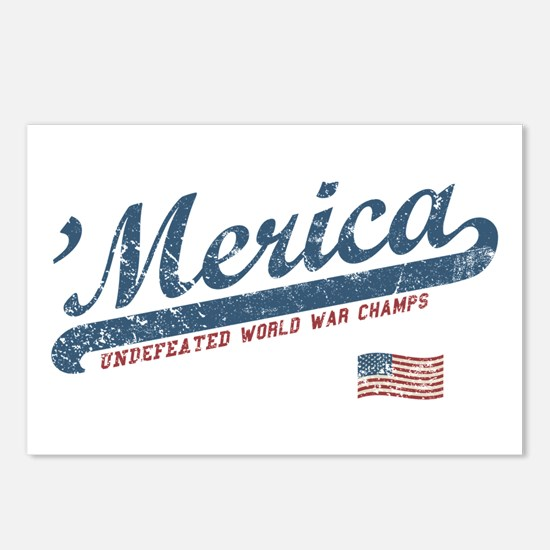 Vintage Team 'Merica Postcards (Package of 8)