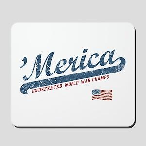 Vintage Team 'Merica Mousepad